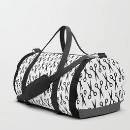Simple Black Scissors Duffle Bag