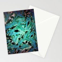 Smash smash turquoise Stationery Cards