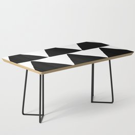 Mountains - Black and White Triangles Coffee Table