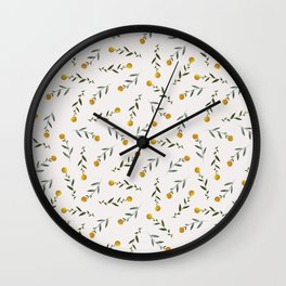 Yellow Knobs Wall Clock
