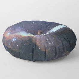We Are Sailing - Universe, Space, Cosmos Floor Pillow