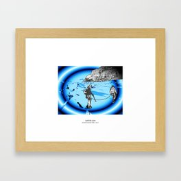 MOUNTAIN GLACIER TOUR III Framed Art Print