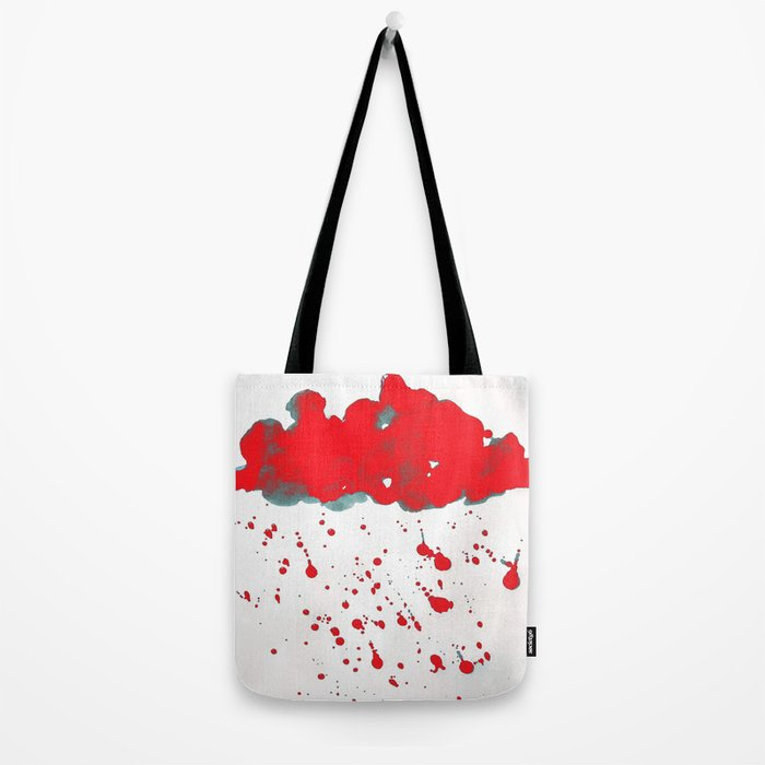 Red Red Clouds Tote Bag