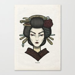 Painted Face Series : Geisha Canvas Print