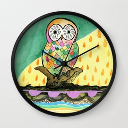 The Jeweled Gumball Owl Wall Clock