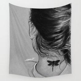 Lauren Jauregui Dragonfly Tattoo Sketch Wall Tapestry