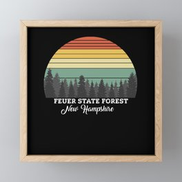 Feuer State Forest New Hampshire Framed Mini Art Print