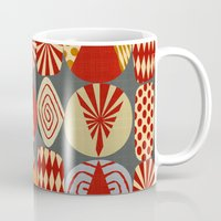 blankets Mugs featuring christmas tree MINIMALIST by Chicca Besso