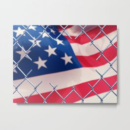 Illegal immigration concept Metal Print