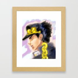 Jotaro Kujo JJBA Framed Art Print