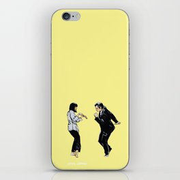 Pulp Fiction 'so dance good' iPhone Skin