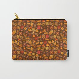 Seamless African Tribal Pattern Carry-All Pouch