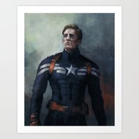 captain Art Prints featuring Captain by charlotvanh