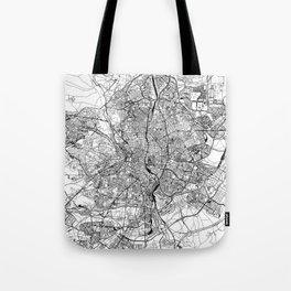Madrid White Map Tote Bag