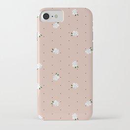 Gardenia pattern pink iPhone Case