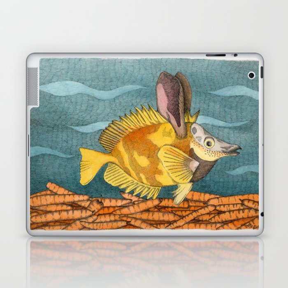 Foxface rabbit fish Laptop & iPad Skin