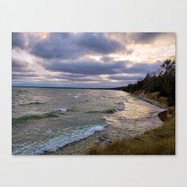 Lake Michigan at Whitefish Dunes Canvas Print