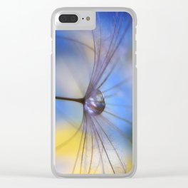 Cool Water A droplet on a Dandelion Seed Parachute Clear iPhone Case