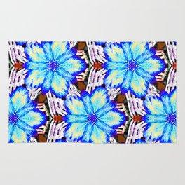 Pop-Art Clematis (blue) Rug