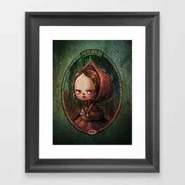 Little Red Riding Hood - the portrait of a girl Framed Art Print