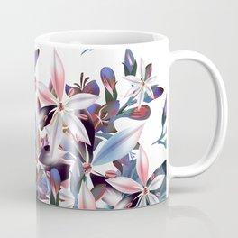 Beautiful watercolor flowers. Blue morning filed Coffee Mug