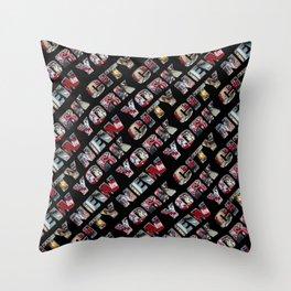 New York City (typography diagonal) Throw Pillow