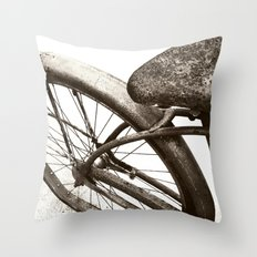 Vintage Bike Home Decor Throw Pillow