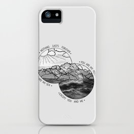 mountains-biffy clyro iPhone Case