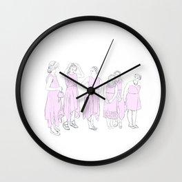 Bridesmaids (pink) Wall Clock