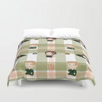 supernatural Duvet Covers featuring Supernatural pattern by Skart87