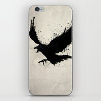 raven iPhone & iPod Skins featuring Raven by Nicklas Gustafsson