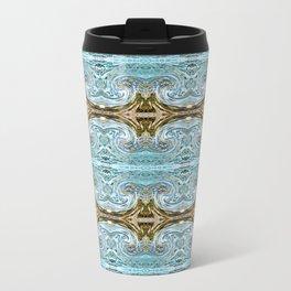166 - water and sand abstract pattern Travel Mug
