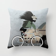 Alleycat Races Throw Pillow