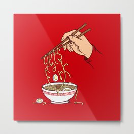 Get's a fork Metal Print