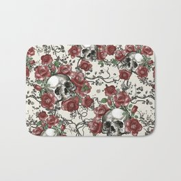 Skulls and Roses or Les Fleurs du Mal Bath Mat