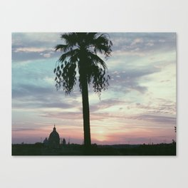 Sunset at the Spanish Steps Canvas Print
