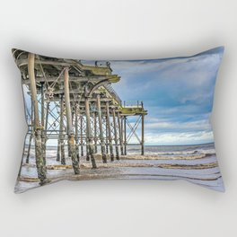 Saltburn Pier Rectangular Pillow