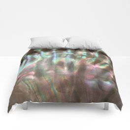 Shimmery Greenish Pink Abalone Mother of Pearl Comforters
