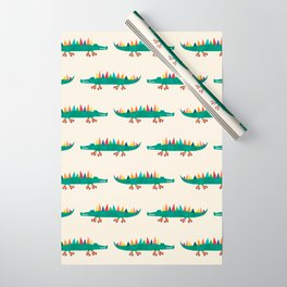Crocodile on Roller Skates Wrapping Paper