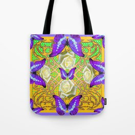 LILAC PURPLE BUTTERFLIES ABSTRACT GARDEN Tote Bag