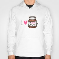 nutella Hoodies featuring Love Nutella by Kleviee