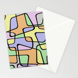 Mid Century Pastel Art Stationery Cards