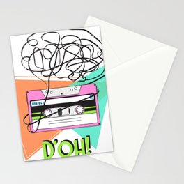 90s and 80s messy meme of cassette tape Stationery Cards