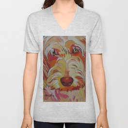 Labradoodle Pop Art Dog Unisex V-Neck