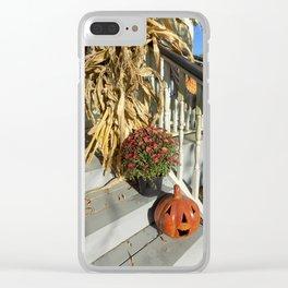 Harvest Jack O' Lantern Clear iPhone Case