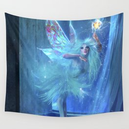 The Blue Fairy Wall Tapestry