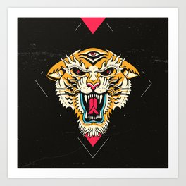 Tiger 3 Eyes Art Print