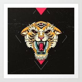 Tiger 3 Eyes Kunstdrucke