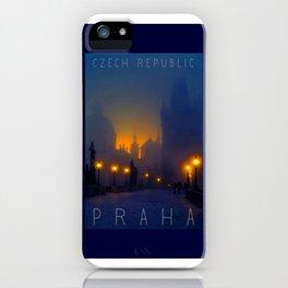 Prague, vintage poster iPhone Case