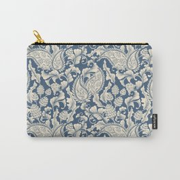 Vintage & Shabby Chic - William Morris Classic Blue Antique Floral Carry-All Pouch